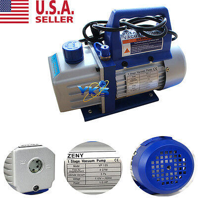 Low Noise 1stage 4cfm Vacuum Pump Single Stage Hvac 13hp Air Conditioning Ac K