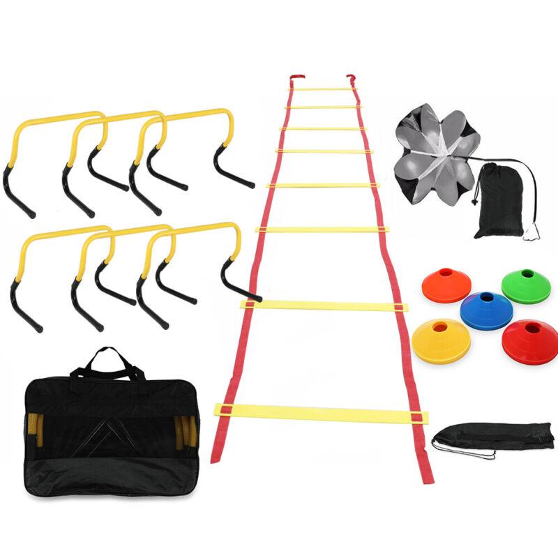 Soccer Pro Training Equipment Set Agility Speed Quickness Hurdle Ladder Kit