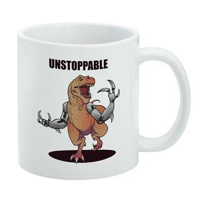 Unstoppable Tyrannosaurus Rex Dinosaur White Mug - Dinosaur Mug
