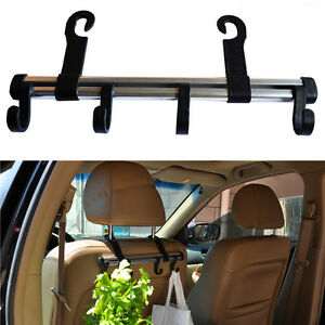 auto car truck vehicle seat purse bag handrest 4 hooks hanger holder organizer. Black Bedroom Furniture Sets. Home Design Ideas