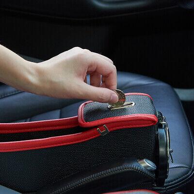 2Pcs Car Seat Crevice Storage Box Phone Cup Holder Caddy Gap Organizer Pocket