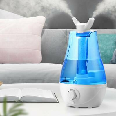 3L Large Ultrasonic Cool Mist Humidifier Aroma Diffuser Tray Night Light UK