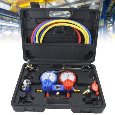 Air Conditioner Refrigeration Kit Ac Manifold Gauge Set R12 R22 R134a 410a Kit