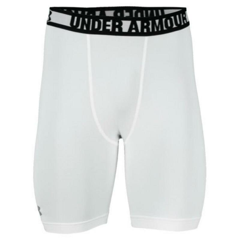 Under Armour Youth XS HeatGear 2.0 Mid Compression Shorts White FAST SHIP! G50