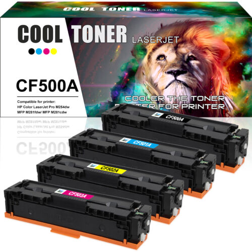 4PK Compatible for HP CF500A 202A Color LaserJet Pro MFP M281cdw M281fdw M254dw