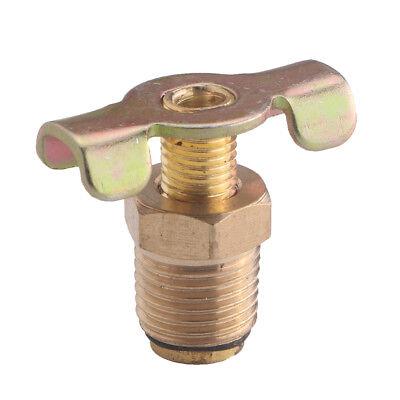 Compressor Part Replacement - 1/4'' NPT Brass Air Compressor Tank Drain Valve Plumbing Replacement Part Golden
