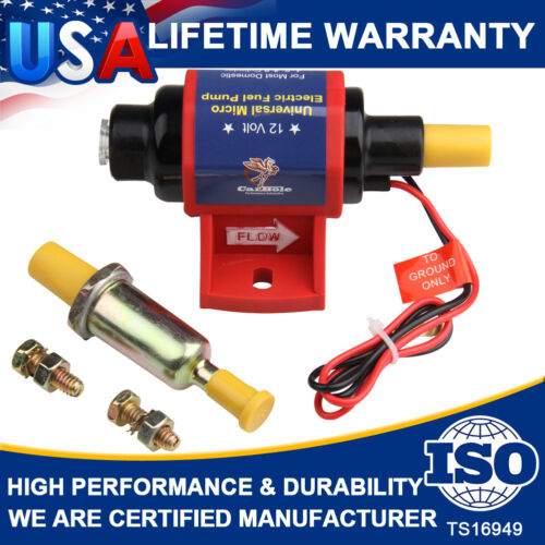 12V Universal 4-7 PSI 3//8 inch Micro Electric Fuel Pump 35 GPH Transfer
