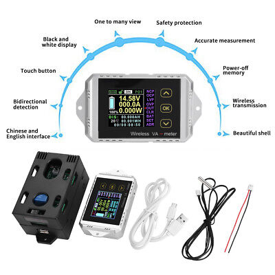 Wireless LCD Digital DC 0~400V 0~300A Voltmeter Ammeter Watt Tester Power Meter - Digital Wireless Lcd