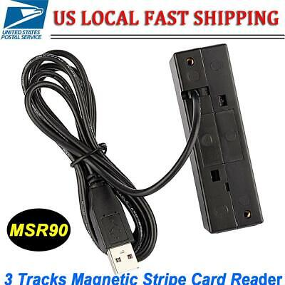 Msr90 Usb Magnetic Stripe Card Reader Writer Encoder Credit Magstrip 3 Tracks Us
