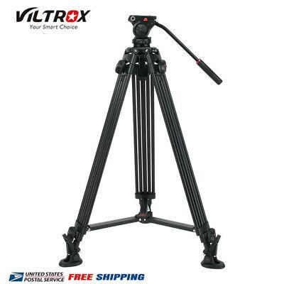 "VILTROX VX-18M Heavy Duty Video Tripod Stand 360 Fluid Damping Ball Head 75""inch"