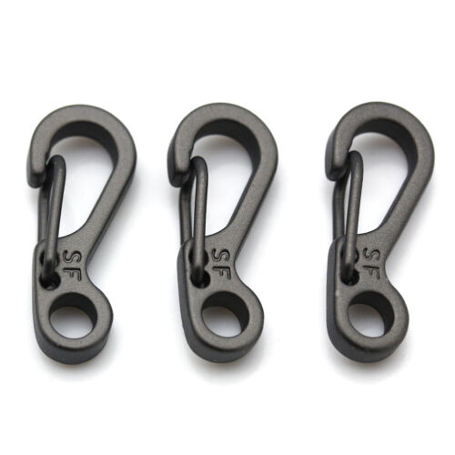 3pcs Climbing Gear Carabiner Mini Mock Spring Clip Hook Outdoor Survival Tools
