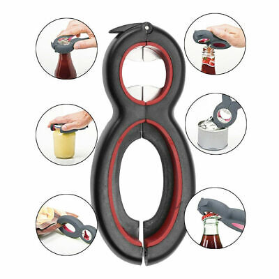 Multi-Tool 6 in 1 Bottle Soda Soup Can Jelly Jar Opener Twist off Remover Fashio