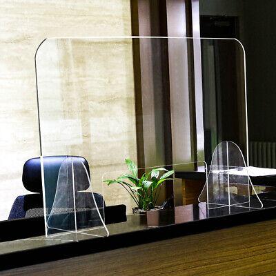 Spuckschutz Schutzscheibe Acrylglas Thekenaufsatz 90x60 cm Durchreiche 48x12 cm