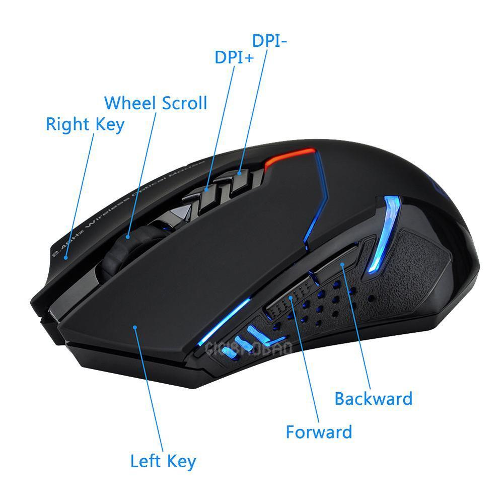 ET X-08 2000DPI Adjustable 2.4G Wireless Professional Gaming Mouse Mice