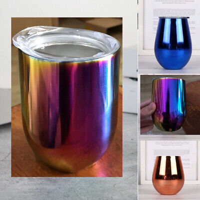 Cocktail Wine Tumbler Stainless Steel Goblet Mug Sipppy Cup Double layer 12oz  12 Ounce Wine Goblet