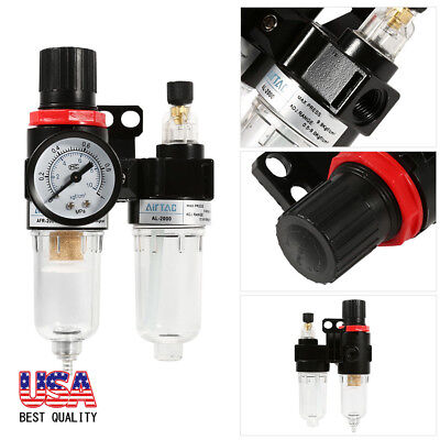 14 Air Compressor Oil Lubricator Moisture Water Trap Filter Regulator Mount