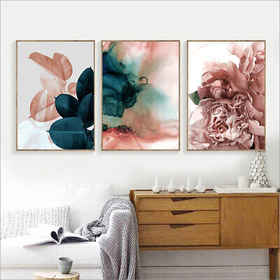 Canvas Painting Leaf Flower Picture Art Poster Wall Office Living Room Decor (Poster Canvas Art Painting)