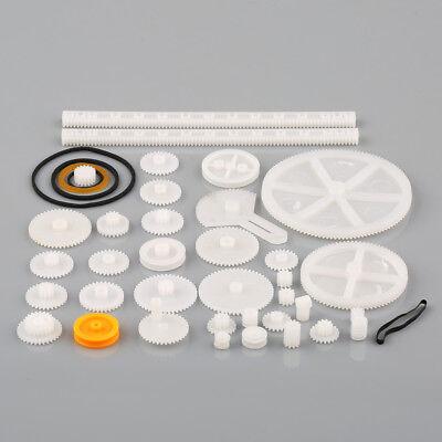 34 Kinds Plastic Shaft Rack Reduction Worm Gears Belt Pulley Diy For Robot New