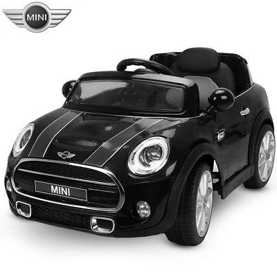 Auto Elettrica per Bambini Mini Cooper Nero 12V Radiocomando + Luci Suoni MP3