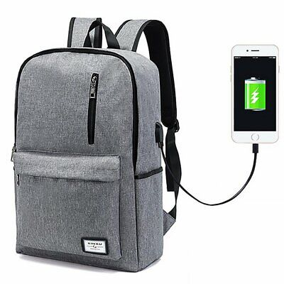 Backpack Laptop Phone Charger Waterproof Slim Business Travel Anti-Theft -
