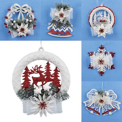 Weihnachtsbaum Weiße Tür Fenster Weihnachtsdeko  Santa Claus Geschenk