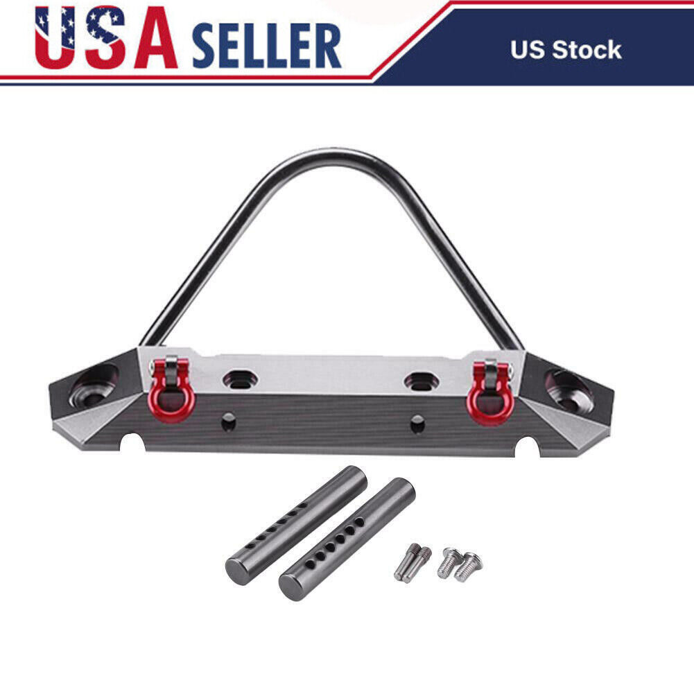 Car Parts - Metal Front Bumper Parts Suitable for 1:10 Axial Scx10 Model RC Car Rock Crawler