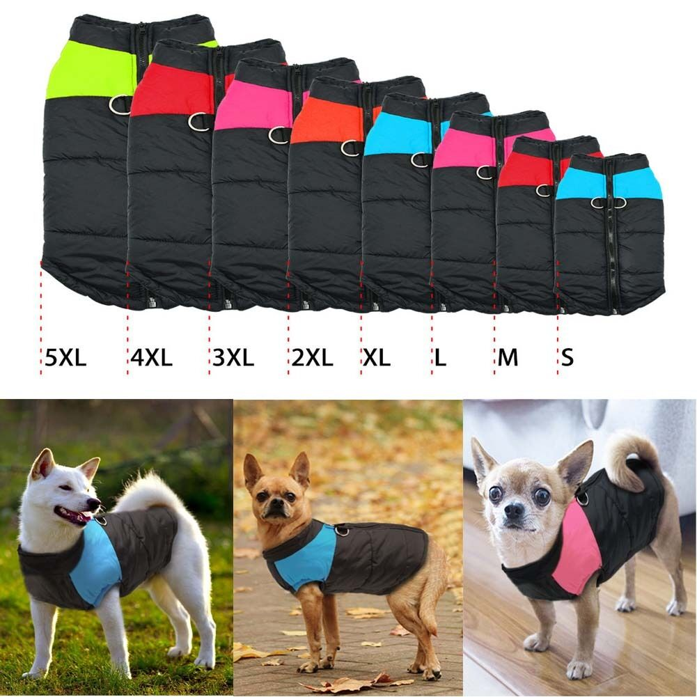 Haustier Wasserdicht Kleidung Hundejacke Wintermantel Mantel Weste Regenmantel
