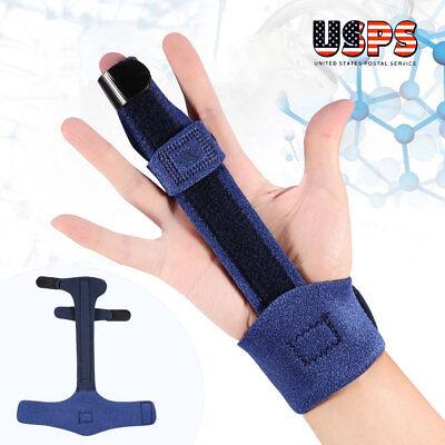 Finger Extension Hand Splint for Trigger Mallet Finger Support Pain Relief Blue