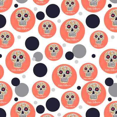 Happy Halloween Fun Floral Skull Premium Gift Wrap Wrapping Paper Roll](Halloween Gift Wrapper)