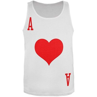 Halloween Ace of Hearts Card Soldier Costume All Over Adult Tank Top - Ace Of Hearts Costume