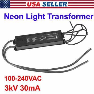 3kv Neon Light Sign Electronic Transformer Power Supply 5-25w 100-240v 30ma