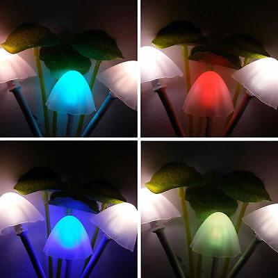 Colorful LED Mushroom Night Light DreamBed Lamp ...