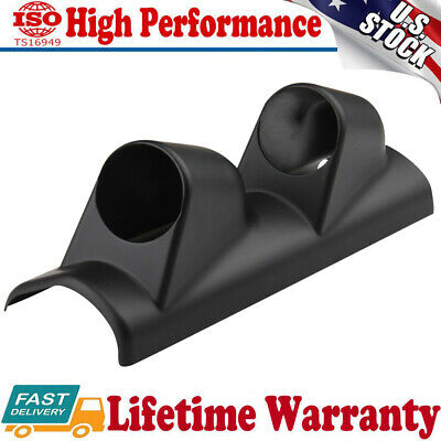 Double 2 Hole A-Pillar Gauge Meter Pod Display Holder Cup Drift for Ford Mustang
