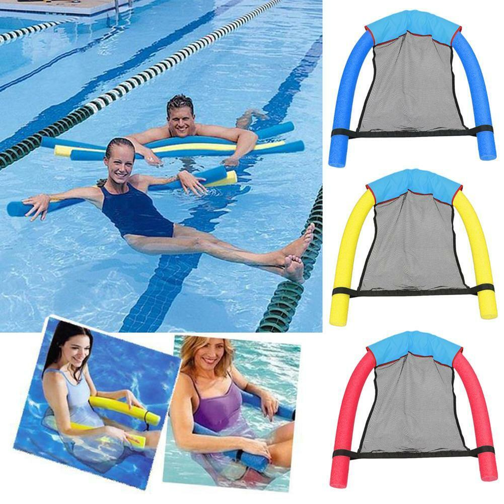 Details about Pool Floating Chair Swimming Pools Seat Bed Mesh Net Noodle  Chairs For Kid Adult