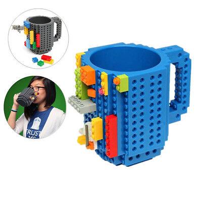 DIY Build-on Brick Puzzle Mug Cup Lego Block Kid Toy Coffee Tea Water Drink Gift - Diy Mugs