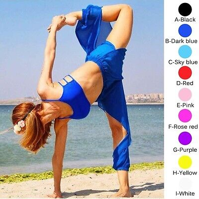 Belly Dance See Through Sheer Harem Yoga Genie Pants Side Slit Trousers Costumes - Harem Costume