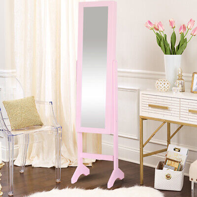 Mirrored Jewelry Storage Cabinet Large Capacity Dressing Mirror Jewelry Cabinets