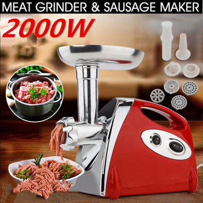 2000w Electric Meat Grinder Home Mincing Machine Sausage Stuffer Stainless Steel