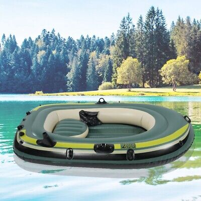 0744eb2eee84 PVC 2-Person Inflatable Dinghy Boat Fishing Tender Rafting Water Sports