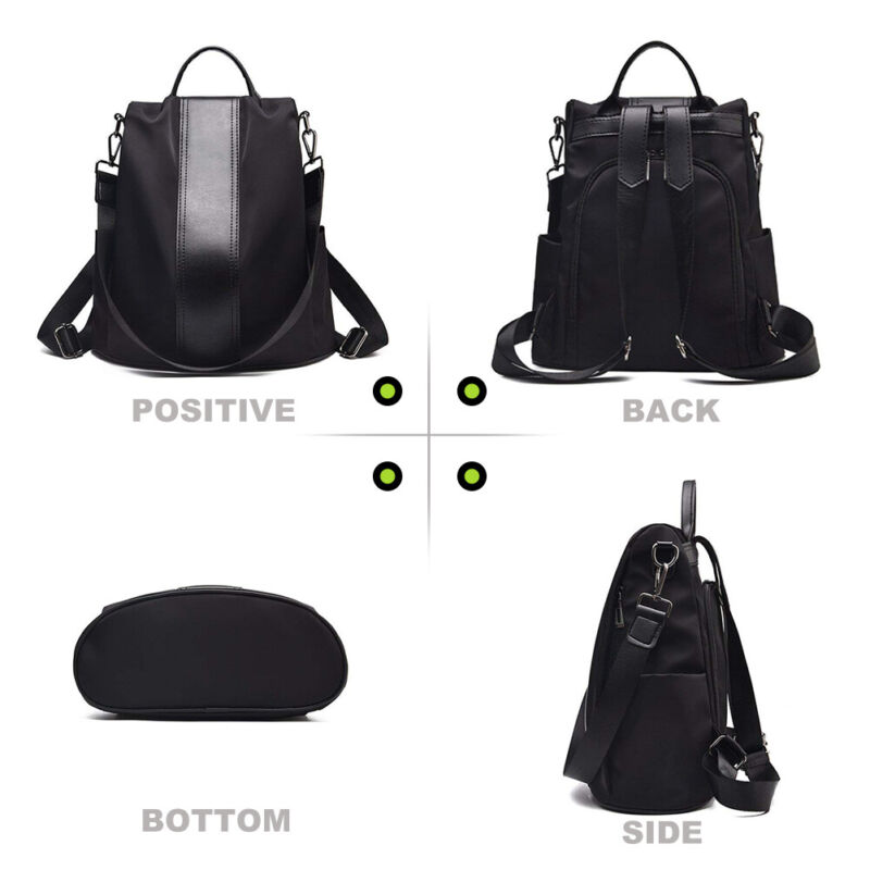 928b8a75211 Details about Women Backpack Purse Anti-Theft Rucksack Waterproof Nylon  Lightweight School Bag
