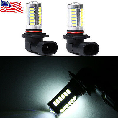 2x 9005 HB3 White 33SMD Car Led Bulbs Replacement for Fog Driving Light Hot