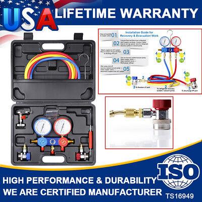 R134a R410a Hvac Ac Air Refrigeration Kit Ac Manifold Gauge Valve Set Brass Kit