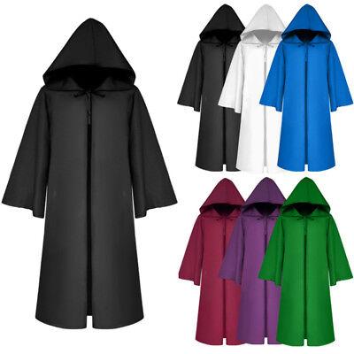 Kids Adult Hoodie Cape Cloak Robe Halloween Vampire Witch Wizard Cosplay Costume - Wizard Robe