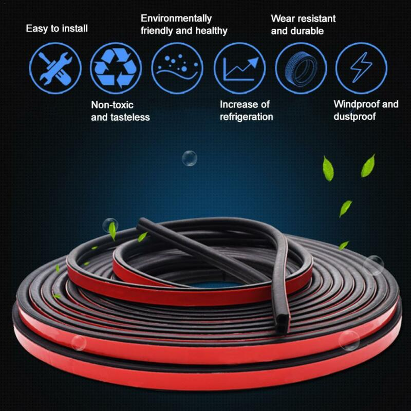 Car Parts - Sloping B Shaped Car Door Seal Strip Rubber 5M Trunk Hood Edge Insulation Trim
