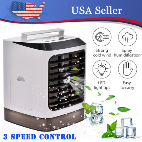 US Portable Mini Air Conditioner Cooler Purifier AC Fan Humi