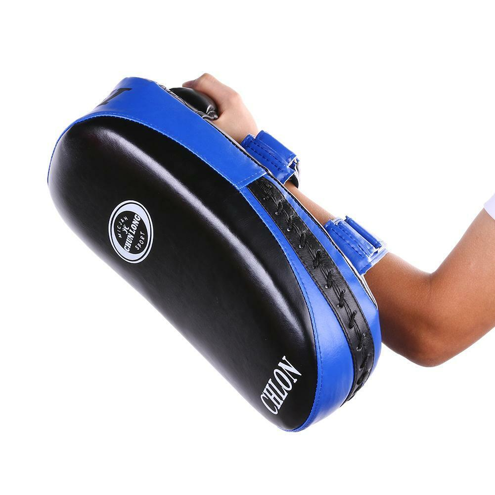Thai Kick Boxing Pad Strike Shield Focus Mitt Arm Punching Bag Foot Trainin hv2n