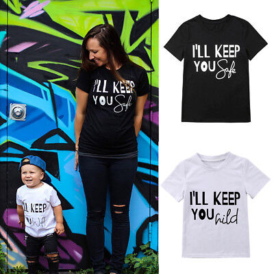 New Mother and Son Family Matching Clothes Casual T-shirt Top Blouse Outfits Z