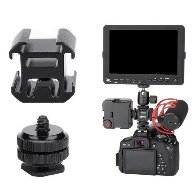 Ulanzi Camera 3 Hot Shoe Mount Adapter Mic Mini LED Video Light for DSLR Camera
