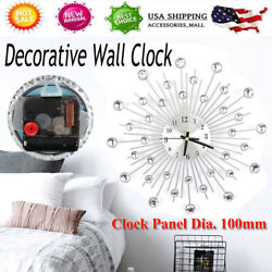 Elegant Luxury Diamond Large Wall Clocks Metal Living Room Wall Clock Home Decor