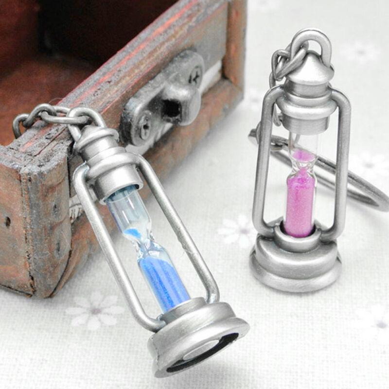 Funny Metal Hourglass Key Chain Key Ring Couples Trinket Key